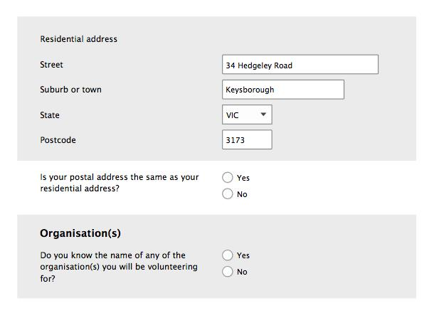 Form design: conditional fields with text in field