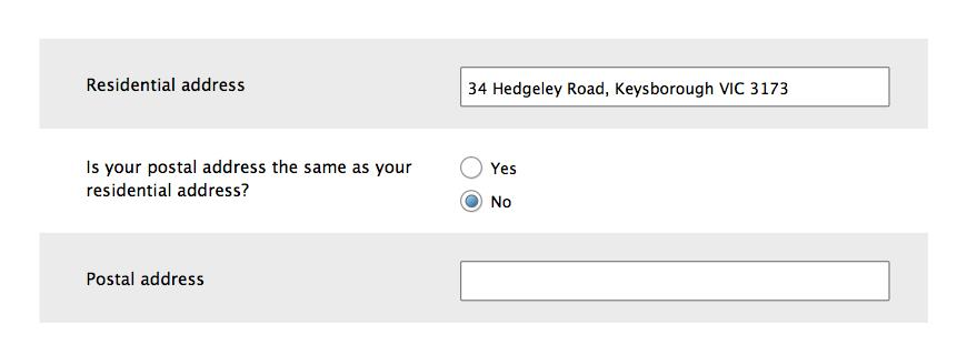 Forms design: Be specific about the kind of address you ask for.