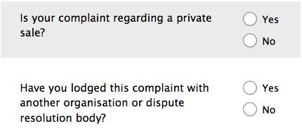 Forms design: Example of not using different terms to refer to the same concept.