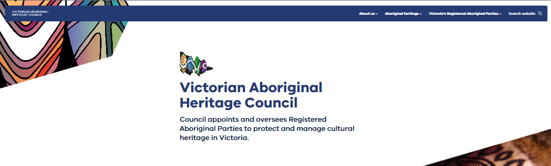 New branding for Aboriginal Heritage Council website design