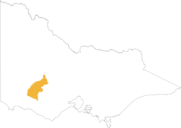 Map of Martang Pty Ltd which covers parts of Ararat and Moyne