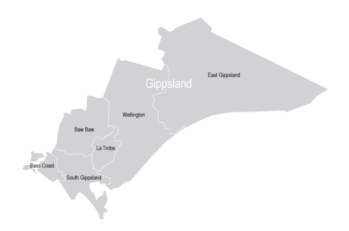 VMC Regional Advisory Council - Gippsland Map