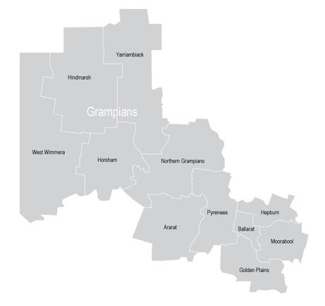 VMC Regional Advisory Council - Grampians Map