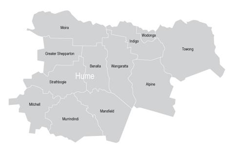 VMC Regional Advisory Council - Hume Map