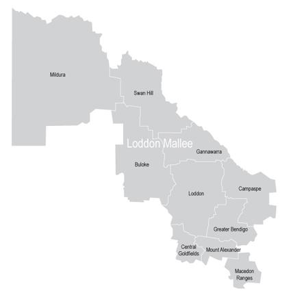 VMC Regional Advisory Council - Loddon Mallee Map