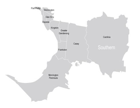 VMC Regional Advisory Council - Southern Metropolitan Map