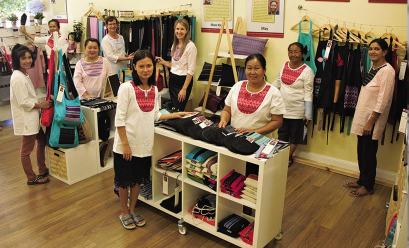 Paw Po Products staff in their shop