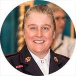 Major Karen Elkington - Meritorious Service Award recipient