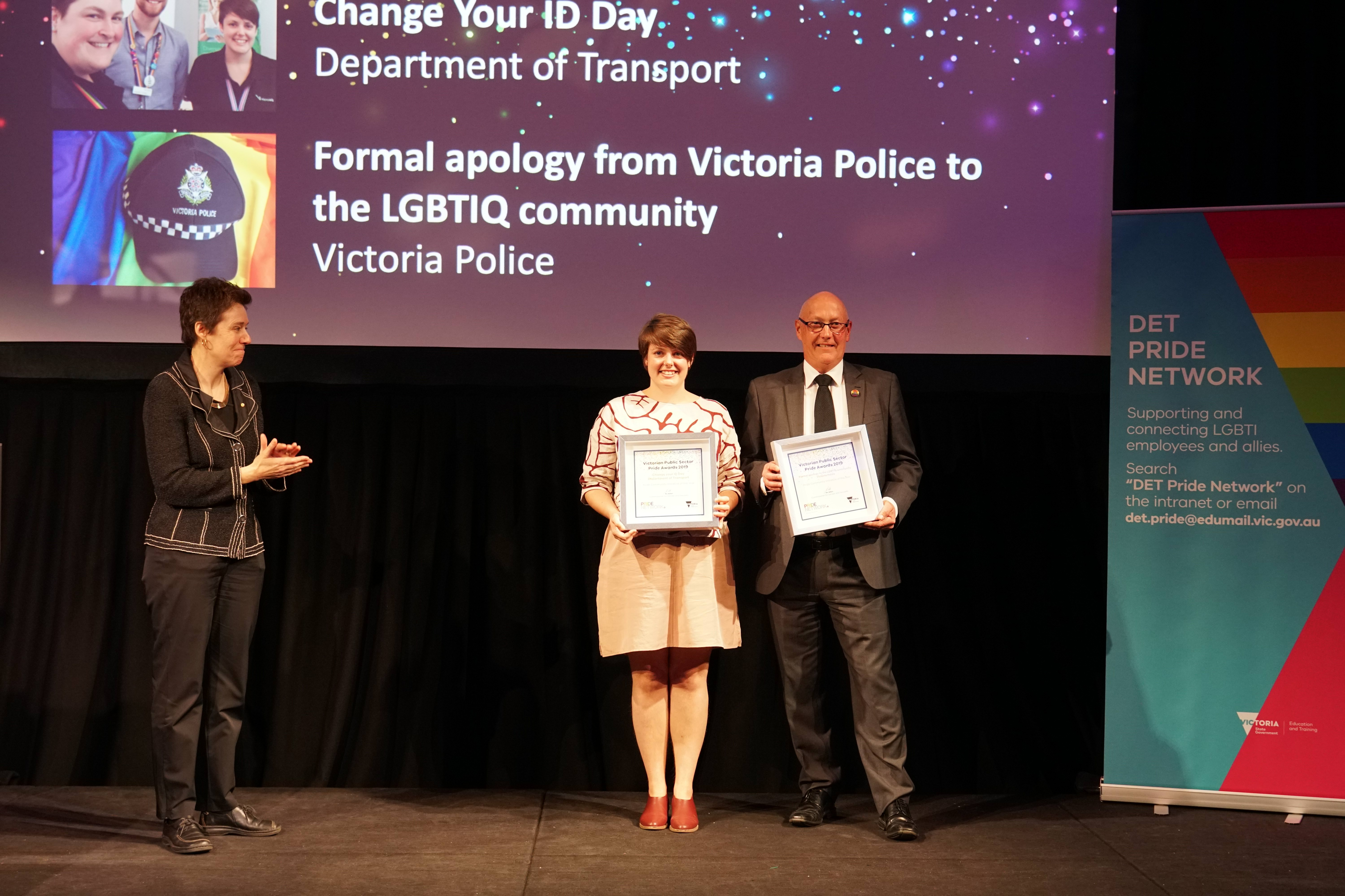 Image of the winners of the 2019 Community Pride Initiative of the Year award