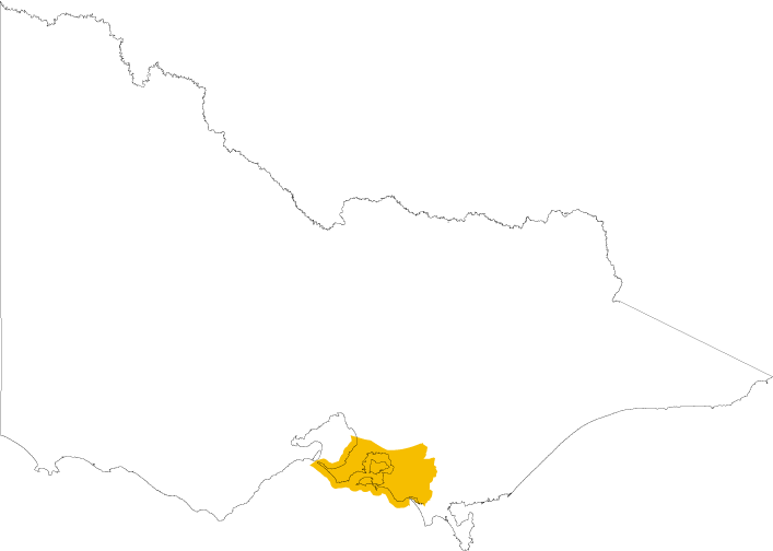 Map of Bunurong Land Council Aboriginal Corporation which covers parts of Frankston, Mornington Peninsula, Bass Coast and South Gippsland