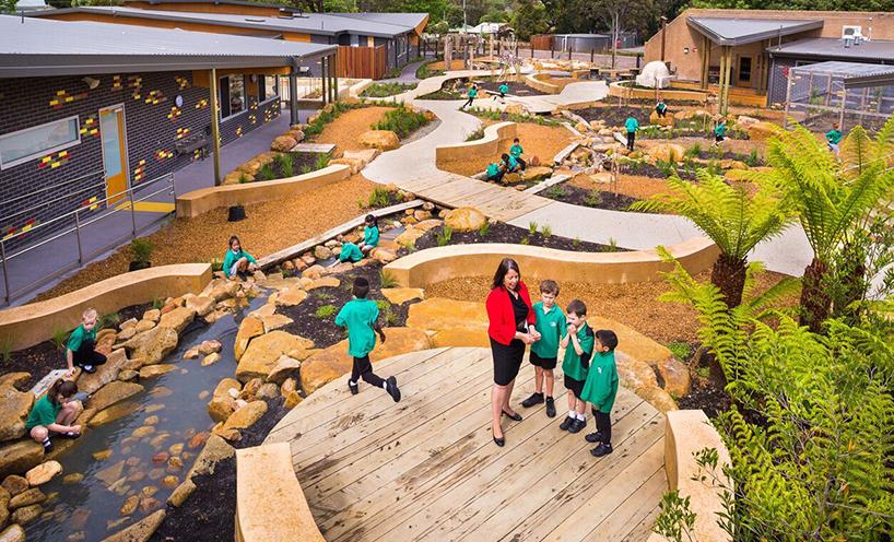 Eastwood Primary School, Architect: Crosier Scott Architects, Landscape Architect: Richard Bellemo Landscapes, Photographer: Peter Casamento