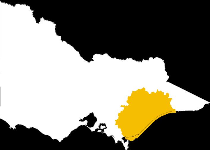 Map of Gunaikurnai Land and Waters Aboriginal Corporation which covers Latrobe, Wellington, Alpine and East Gippsland