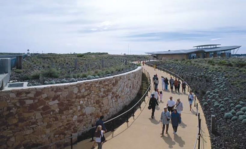 Twelve Apostles Visitor Centre, Port Campbell, Architecture: Gregory Burgess Architects, Photography: Trevor Mein