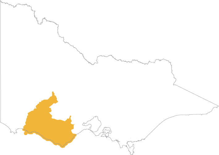 Th EMAC area extends along the coast from east of Port Fairy to west of Anglesea and extends inland to include the Great Otway National Park and the townships of Warrnambool, Terang, Mortlake, Camperdown, Colac, Apollo Bay, Lorne and Cressy
