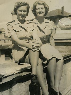 Showing a bit of leg—those dreadful lisle stockings 1943-46 Image courtesy of Pamela Nicholls