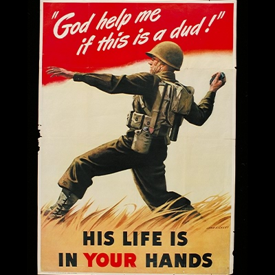 God help me if this is a dud!: His life is in your hands poster 1942