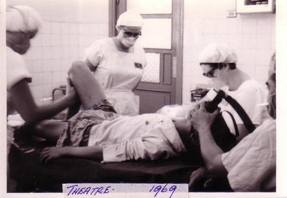 Operating theatre at Bien Hoa 1969