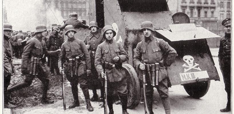 Freikorps in Berlin c 1919  Honour book of the German army