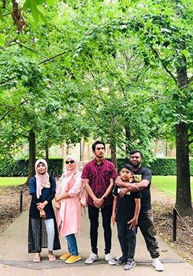 Jumabi and family 2018 Reproduced courtesy of Jumabi Mohamad Ali