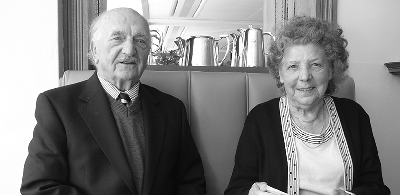 Lost family found: James Williams and wife Esther 2009 Liverpool, United Kingdom Reproduced courtesy of John Williams' estate