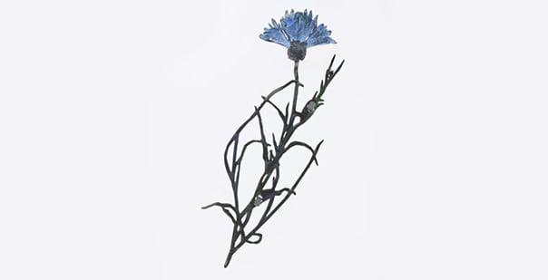 Flowers of War brooch no. 181 Cornflower 2018