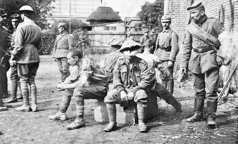 Wounded Australian prisoners of war captured at Fromelles