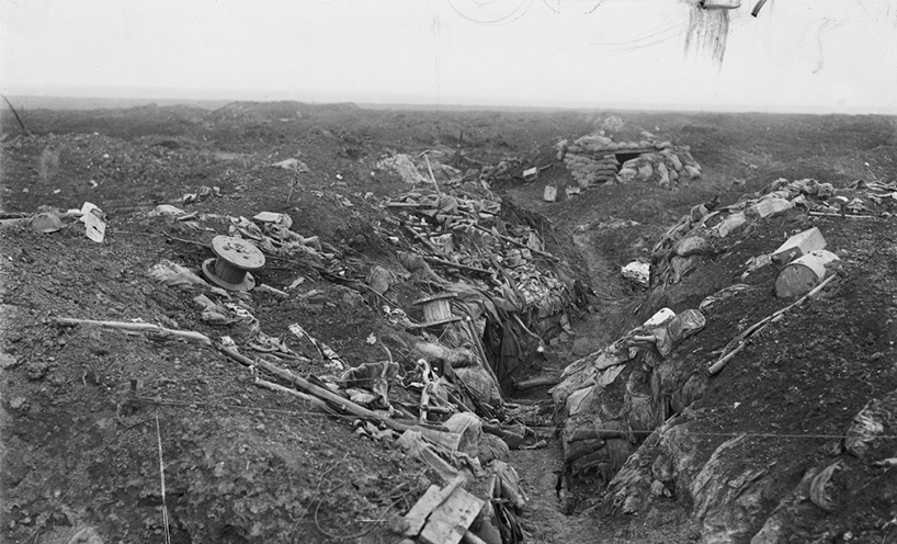 Captured German trenches