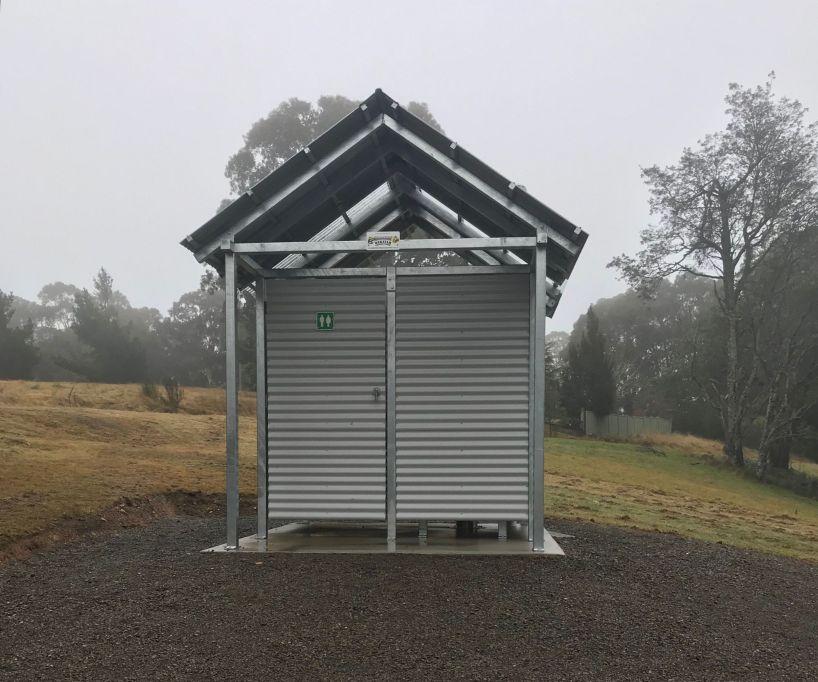 Outdoor public toilet at matlock grants reserve