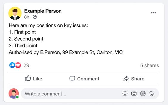 LGI authorised candidate post