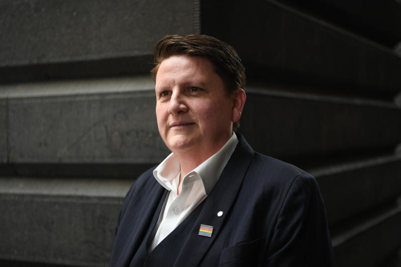 A portrait photo of the Victorian Commissioner for LGBTIQ+ Communities Ro Allen