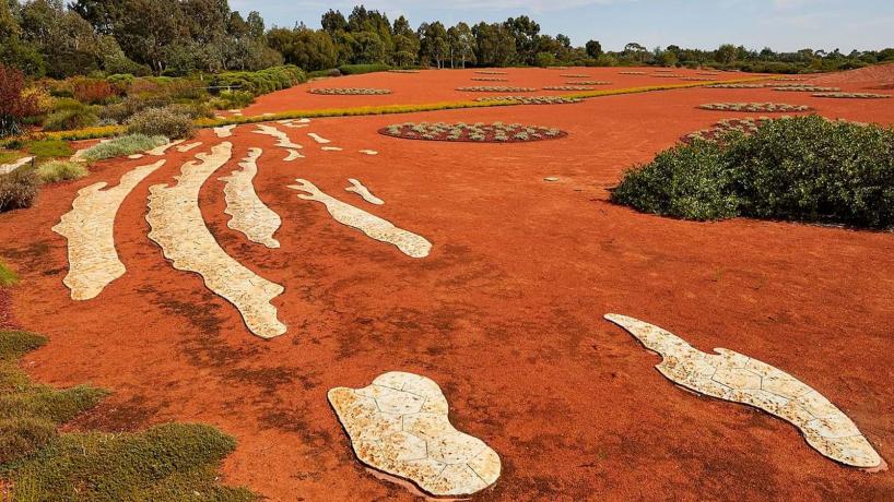 Cranbourne gardens red sand field