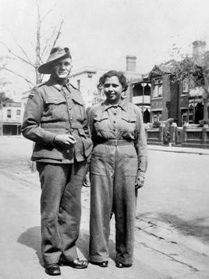 Private Samuel Alexandra Peacock (Sam) Lovett and his niece Aircraftwoman Alice Lovett