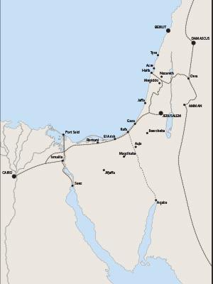 Sinai-Palestine Campaign theatre of operations 1914–19