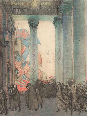 Rejoicing and remembrance, Armistice Day, London, 1918 1924 artist Vida Lahey