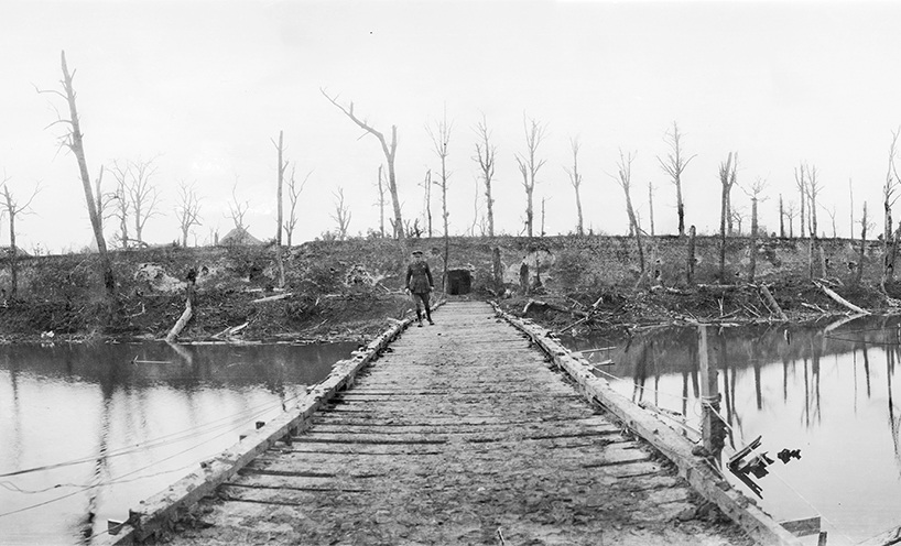 Ypres moat October 1917